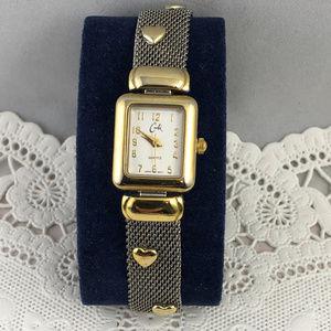 Cache Accessories - Vintage Cache Watch & Bracelet 2 Tone Gold Silver